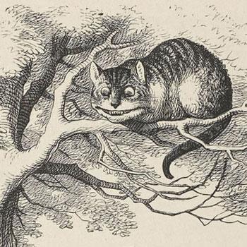 Le Chat par John Tenniel, les aventures d'Alice au pays des merveilles, 1869 [Détail] © Gallica BnF